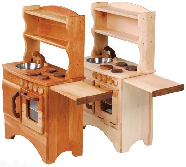 A Simple Hearth Non Toxic Child 39 S Wooden Play Kitchen By