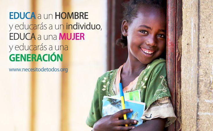 Cartel reivindicativo de la lucha por la educación de la mujer en países del tercer mundo