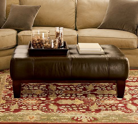 SULLIVAN LEATHER RECTANGULAR OTTOMAN similar to existing ...