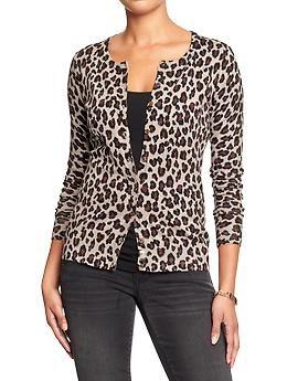 fe915a83dc904 Women s Leopard-Print Cardigan