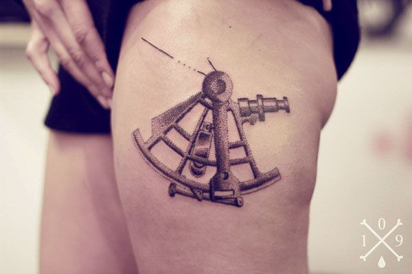 sextant by one o nine via behance tattoos pinterest behance tattoo and tatoo. Black Bedroom Furniture Sets. Home Design Ideas