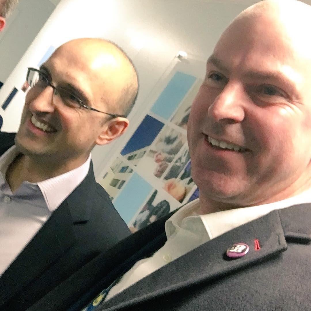 Met author and journalist Matthew Syed today. #BlackBox #Mindset #selfie