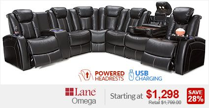 Lane Omega Home Theater Sectional Home Theater Seating Home