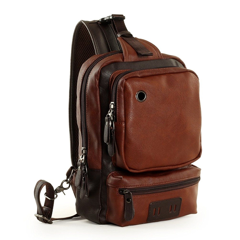 b8dba919bcc4 Zebella Men s Unbalance Chest Pack Multipurpose Backpack Crossbody Shoulder  Bag    For more information