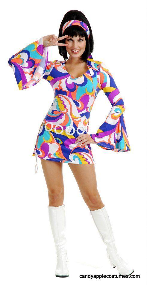 Adult Disco Hottie 60\u0027s Go Go Costume - Sexy Women\u0027s Costumes