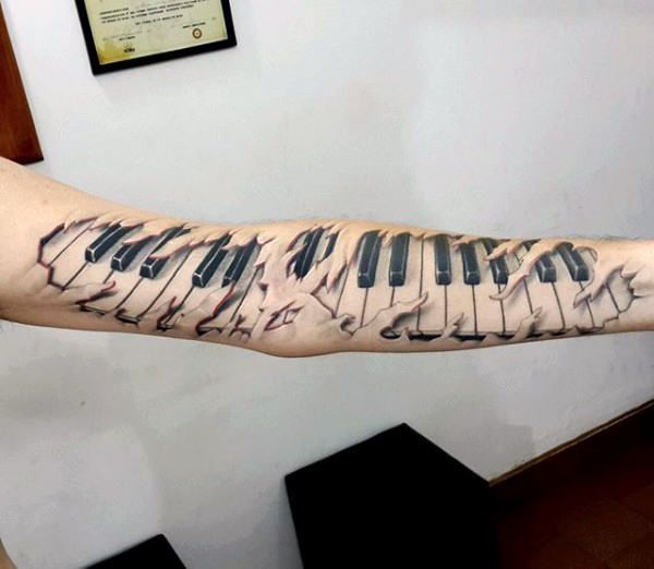 Photo of 60 Piano Tattoos For Men – Music Instrument Ink Design Ideas