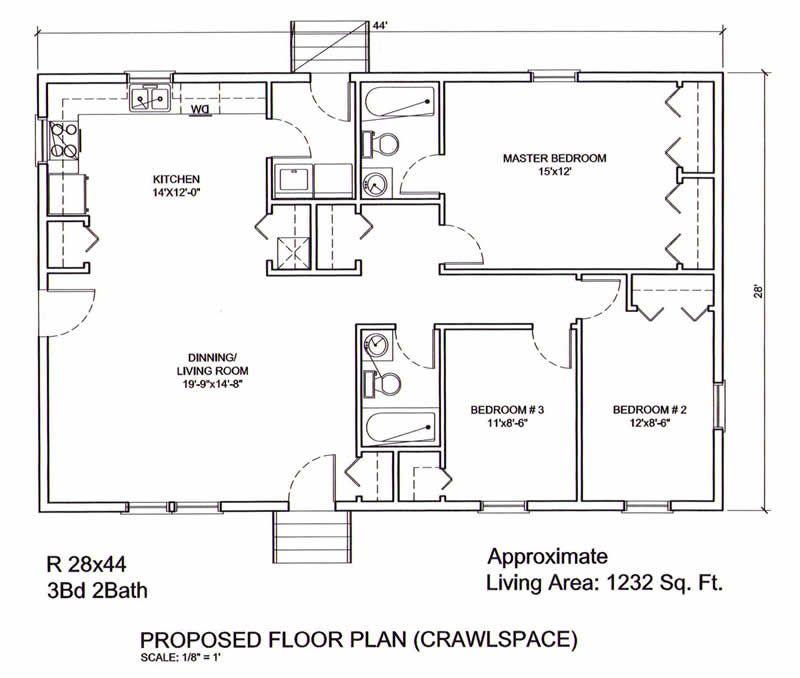 28x44 Floor Plan 29072910 Large Jpg 800 678 Floor Plans Open House Plans House Plans