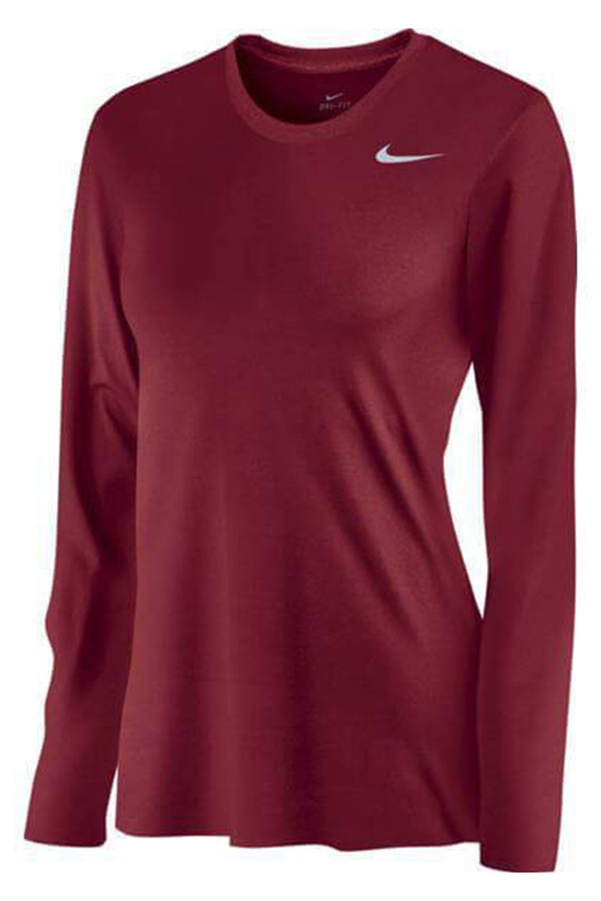 c5039faaf82 Nike Women's Legend Long Sleeve Tee 453182 Team Crimson/Cool Grey in ...