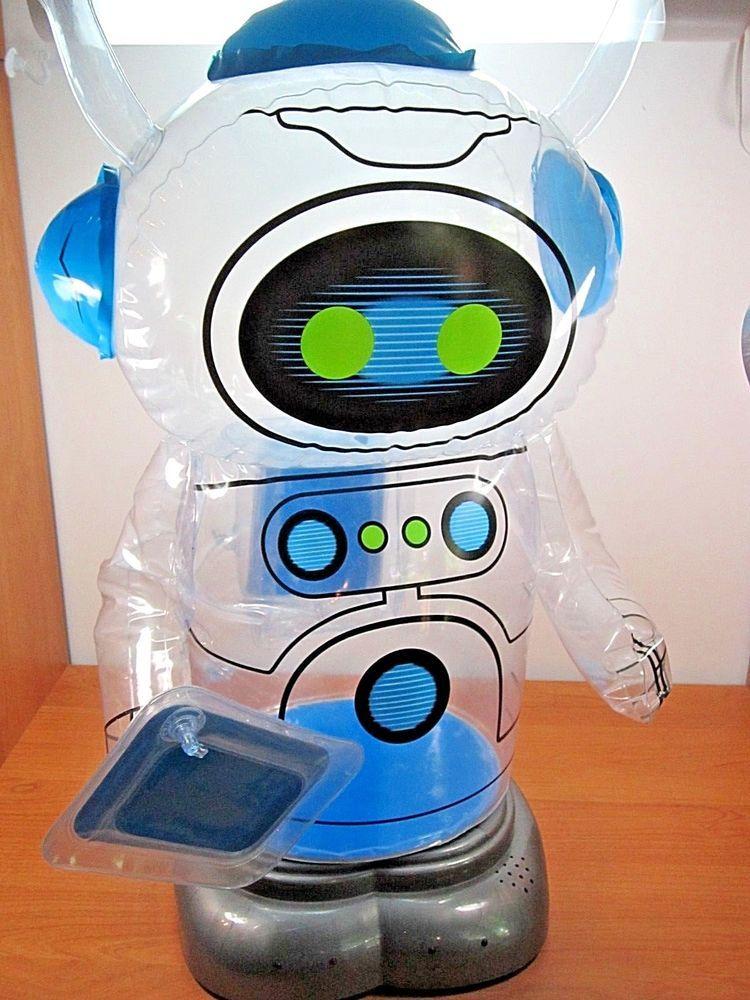 JOE BOT ROBOT RADIO SHACK BATTERY TOY NO REMOTE INFLATES