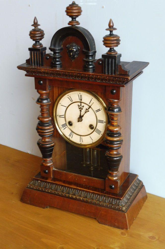 Antique German Clock Table Clock Old Clock 1900s Antique