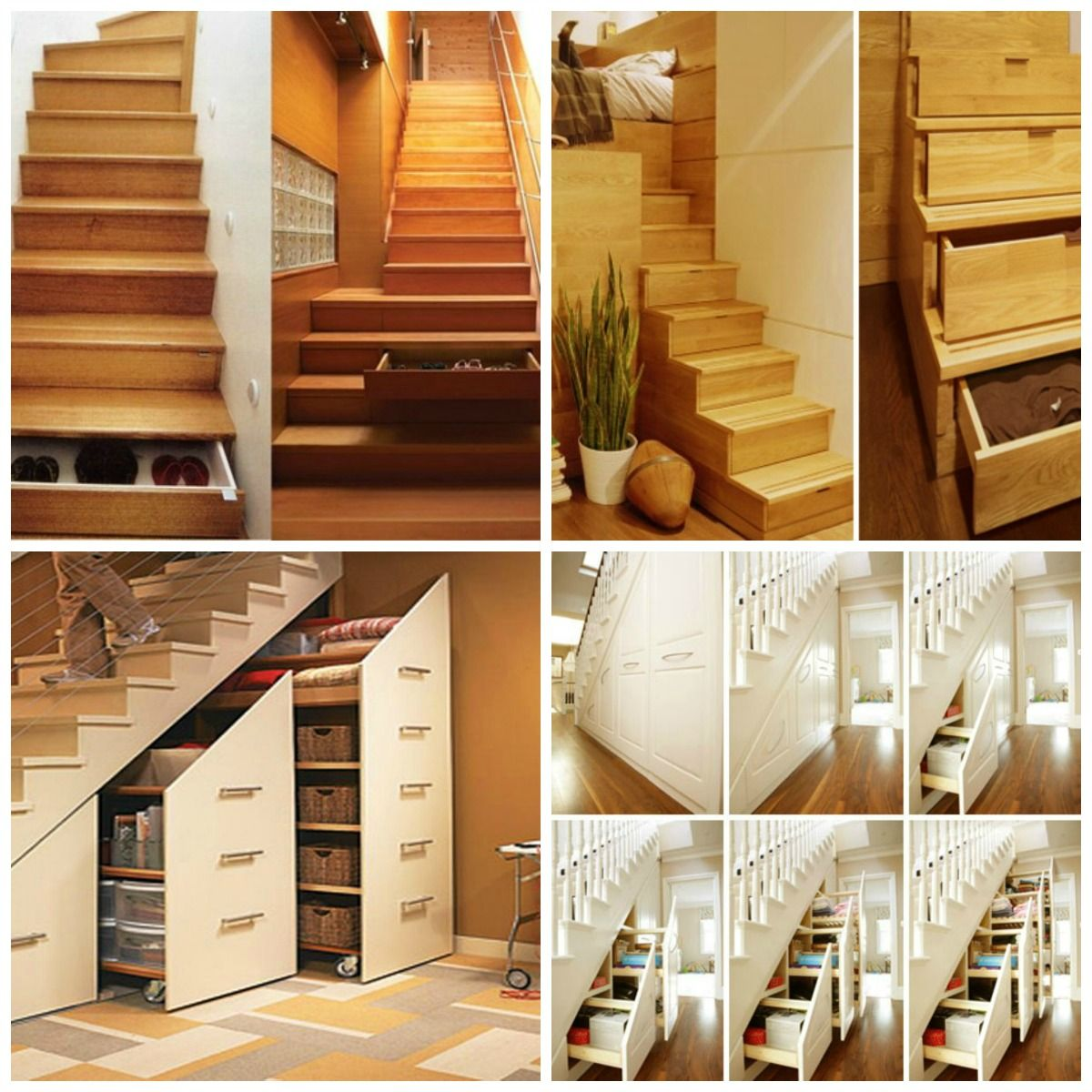 Furniture Remarkable Wooden Stairs With Creative Drawers