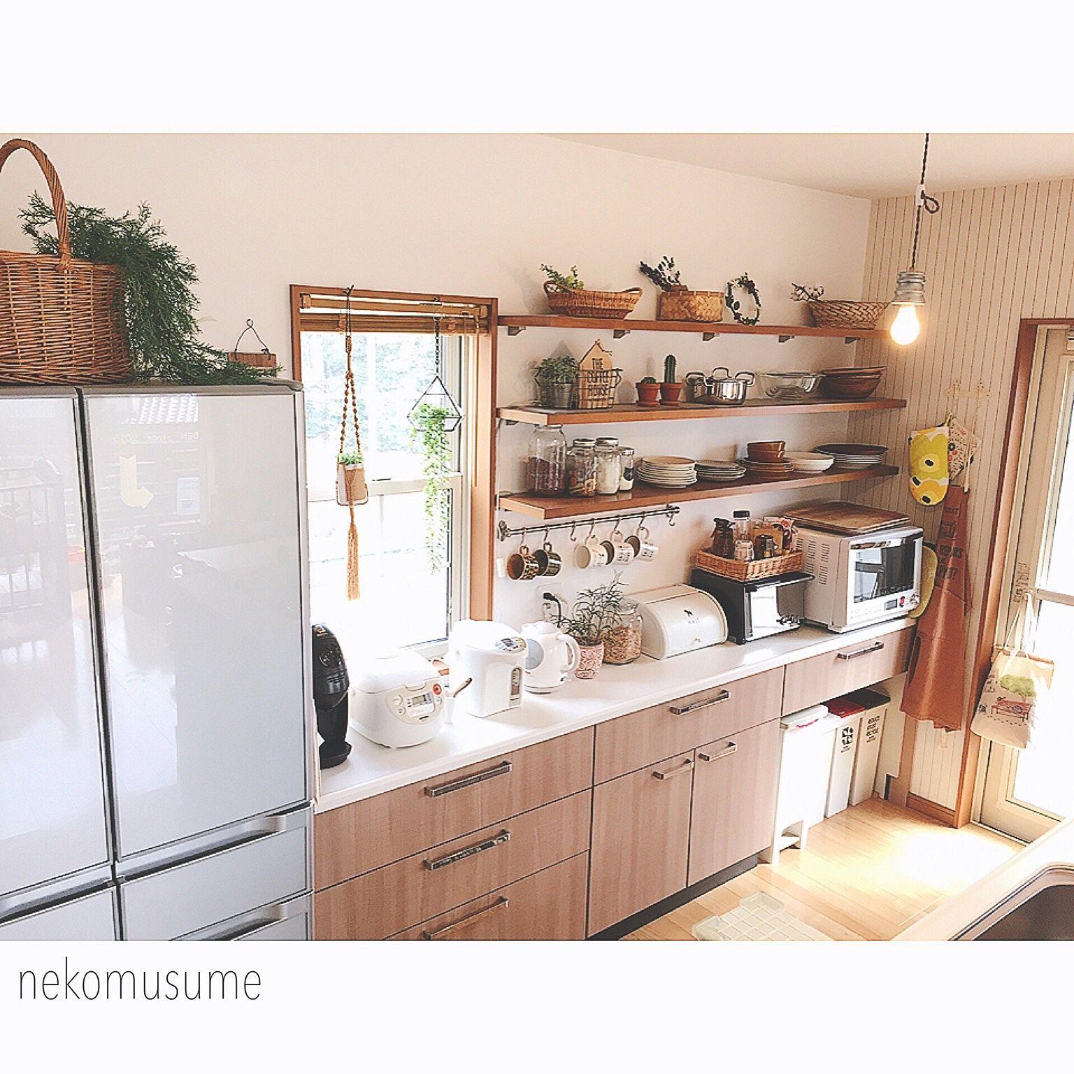 キッチン 見せる収納 キッチン収納 100均 ダイソー などのインテリア