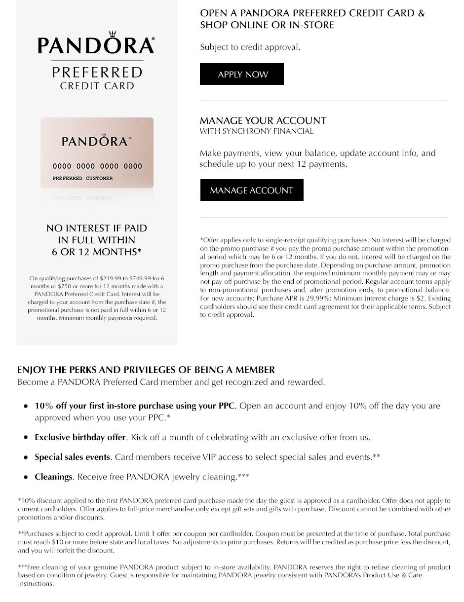 20++ Pandora jewelry credit card payment ideas in 2021