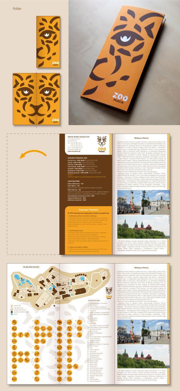 Zoo p ock corporate identity by ukasz aleksandrowicz via for Zoo brochure template