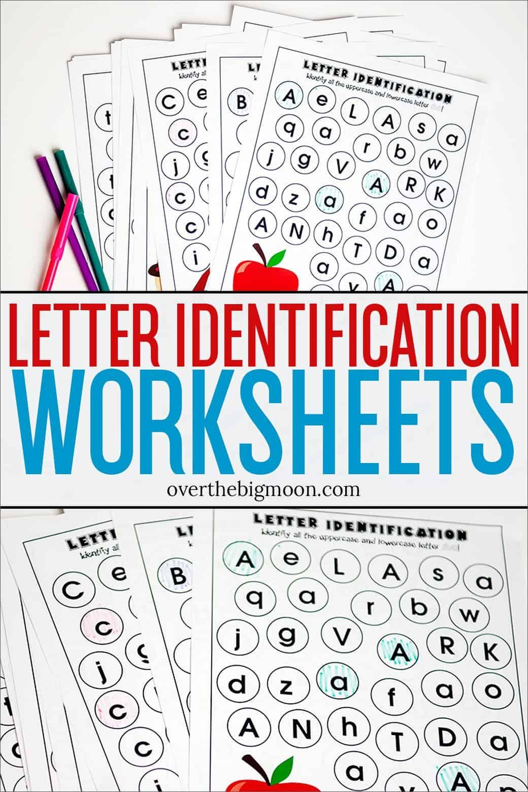 Letter Recognition Worksheets For Kindergarten Full