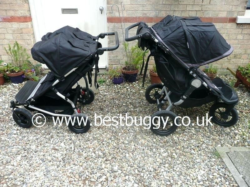 Mountain Kinderwagen Mountain Buggy Duet Vs Baby Jogger City Elite