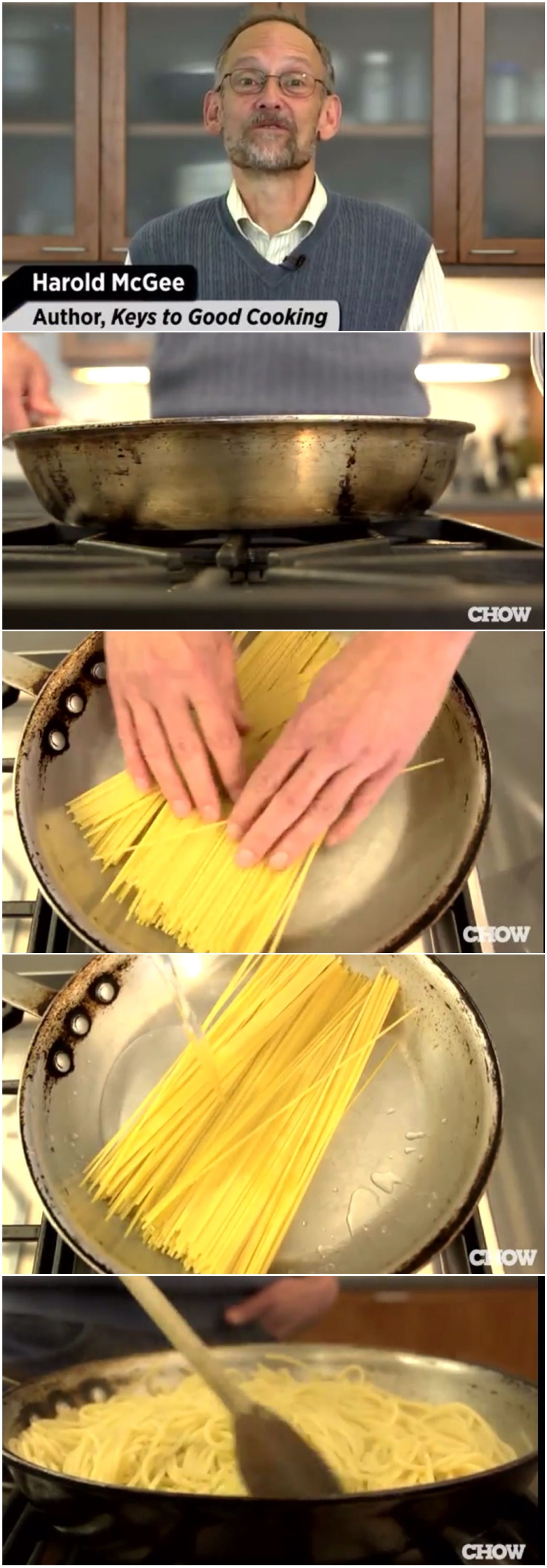 Amazing how to cook pasta really quickly in a frying pan