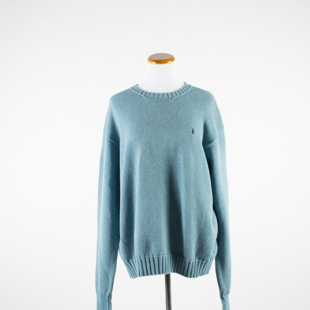 Vintage Sweater | Polo Ralph Lauren Pullover | 1990s Teal Shirt ...