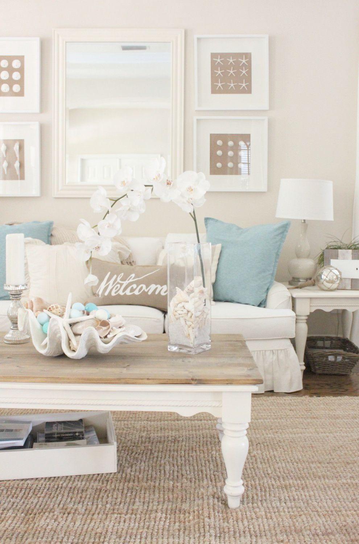 Impressive Pinterest Diy Beach House Decor Coastal Decorating Living Room Furniture Theme