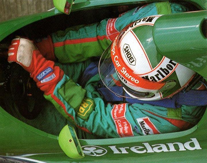 Image result for 1991 san marino grand prix jordan