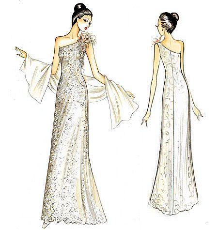 Marfy Dress | patroontekenen marfy bruid | Pinterest | Schnittchen