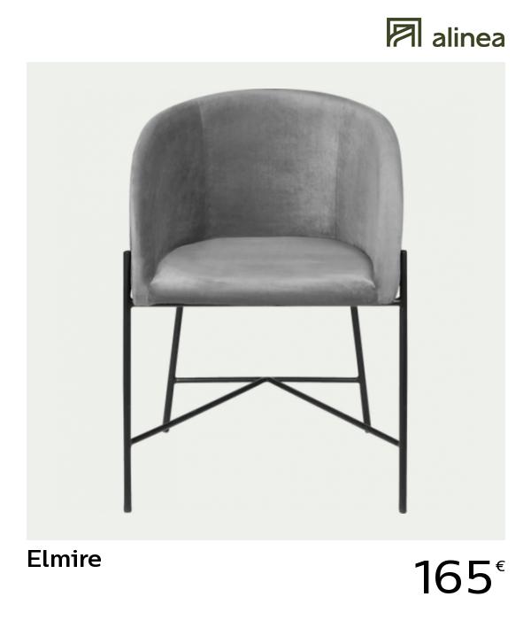 Alinea Decoration Elmire Chaise En Velours Avec Accoudoirs Gris Borie Chaise Chaise Capitonnee Chaise Tissu