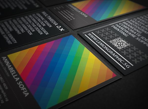 Rainbow Typography Business Card Inspiration Pinterest