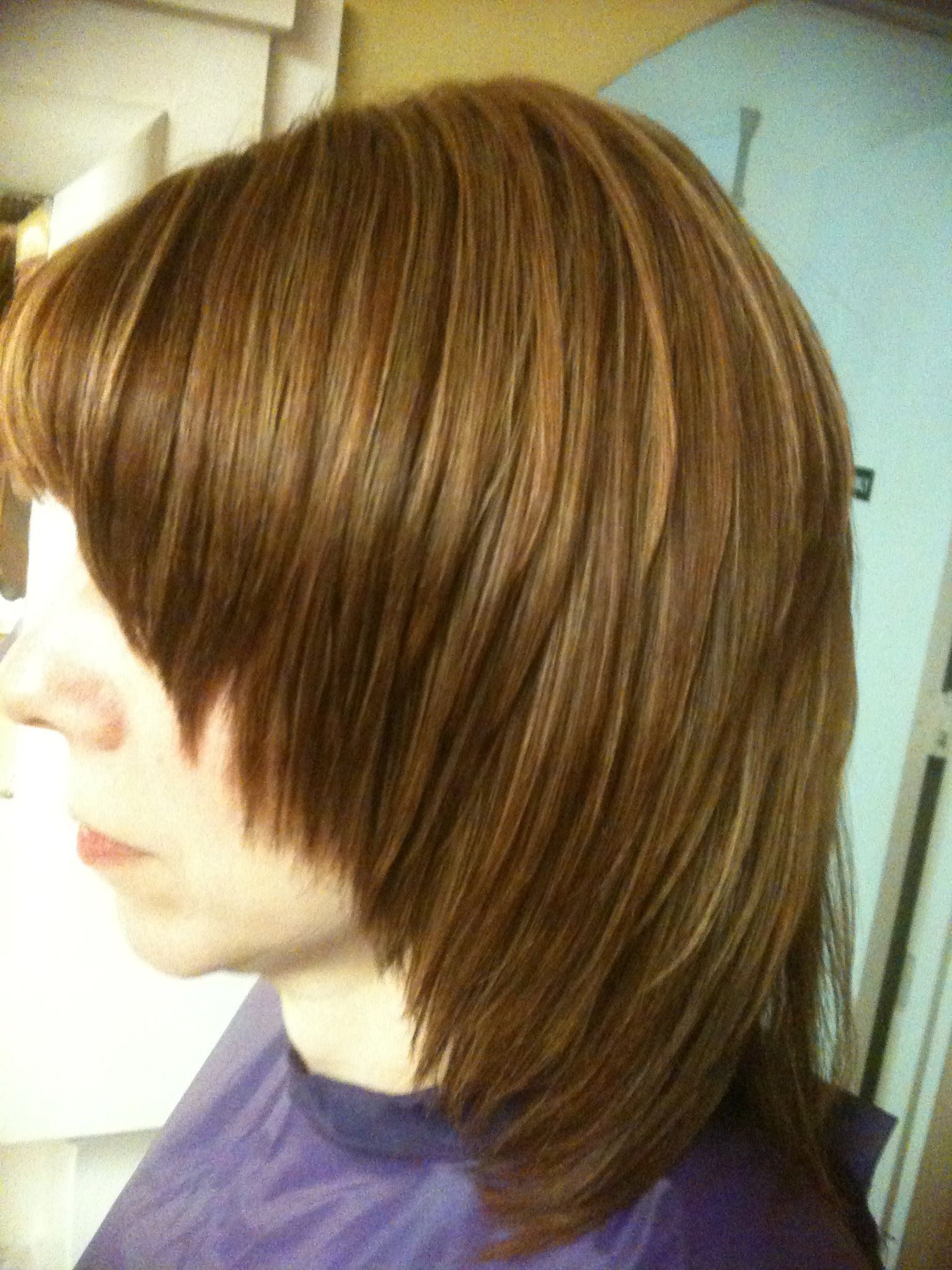 Coiffure Cheveux Mi Long Meche Blonde Auburn Hair With Butter Blonde Highlights By Jo