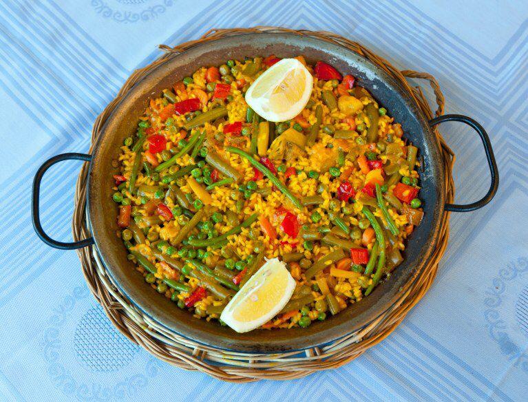 Paella végétalienne express   Recette   Paella ...