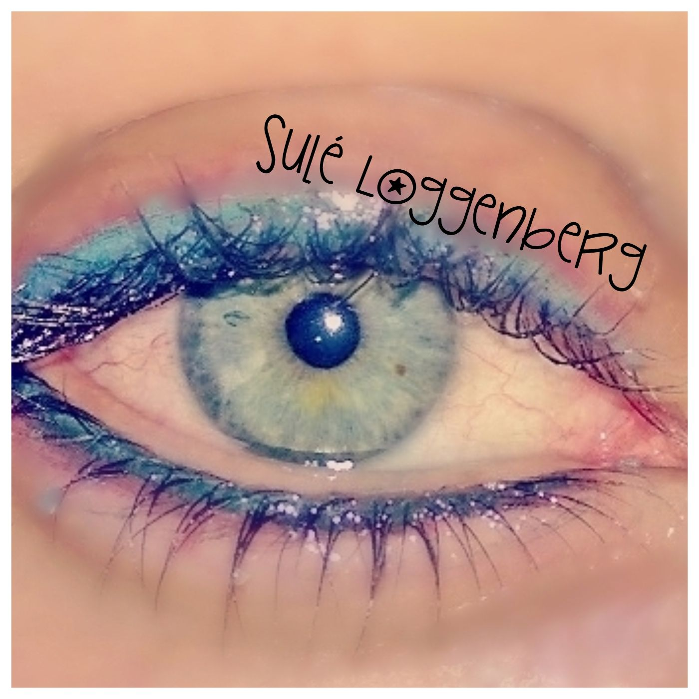 Very Soft Turquoise Eyeliner Top and Bottom done with our