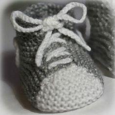 patron tricot chausson bébé gratuit … | bebes | Modele