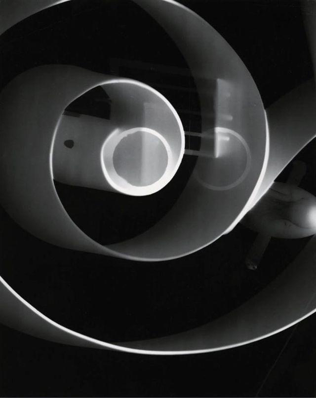 László Moholy-Nagy, gelatin silver print, photogram, 1943