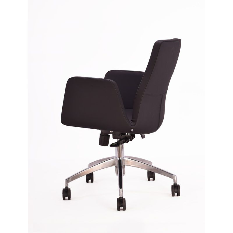 Fully Upholstered Commercial Grade Foam Seat Cast Aluminum Office Chair Base Made In Italy