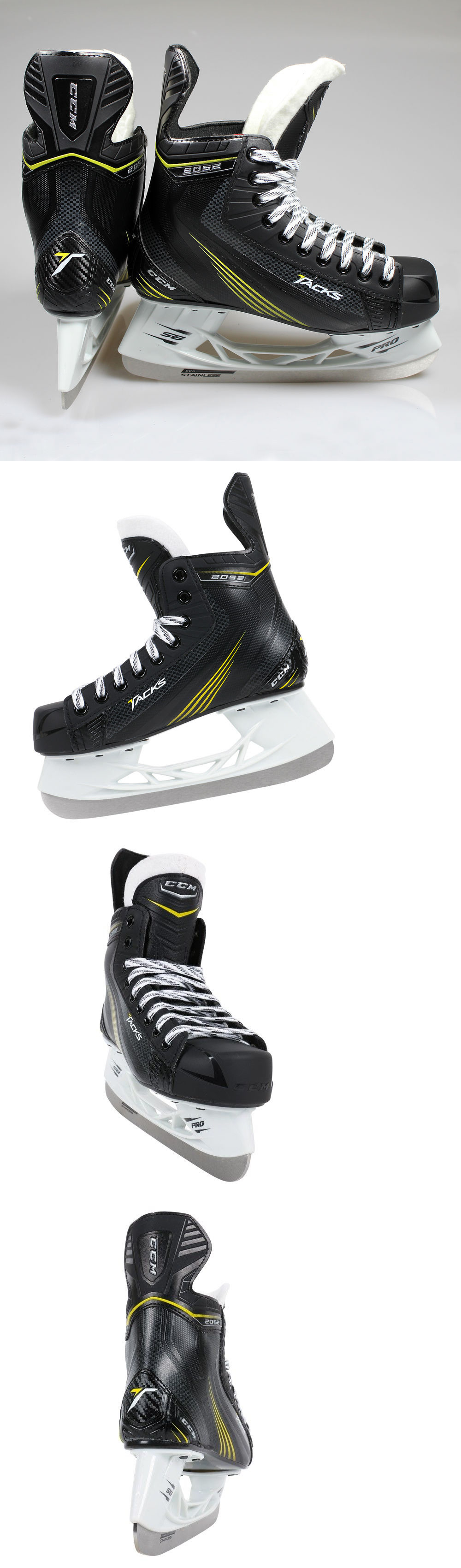 4926b02fee7 Youth 26344  New  90 Ccm Tacks 2052 Jr. Ice Hockey Skates For Kids Boys  Youth BUY IT NOW ONLY   49.94