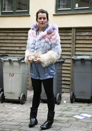 #copenhagen #StreetStyle - pinned by @nordicstylemag #fauxfur #colors