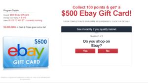 500 Ebay Gift Card Ebay Gift Gift Card Ebay