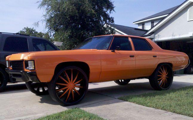 Old School Donks | 1971 Chevrolet Impala donk orange | Impalas ...