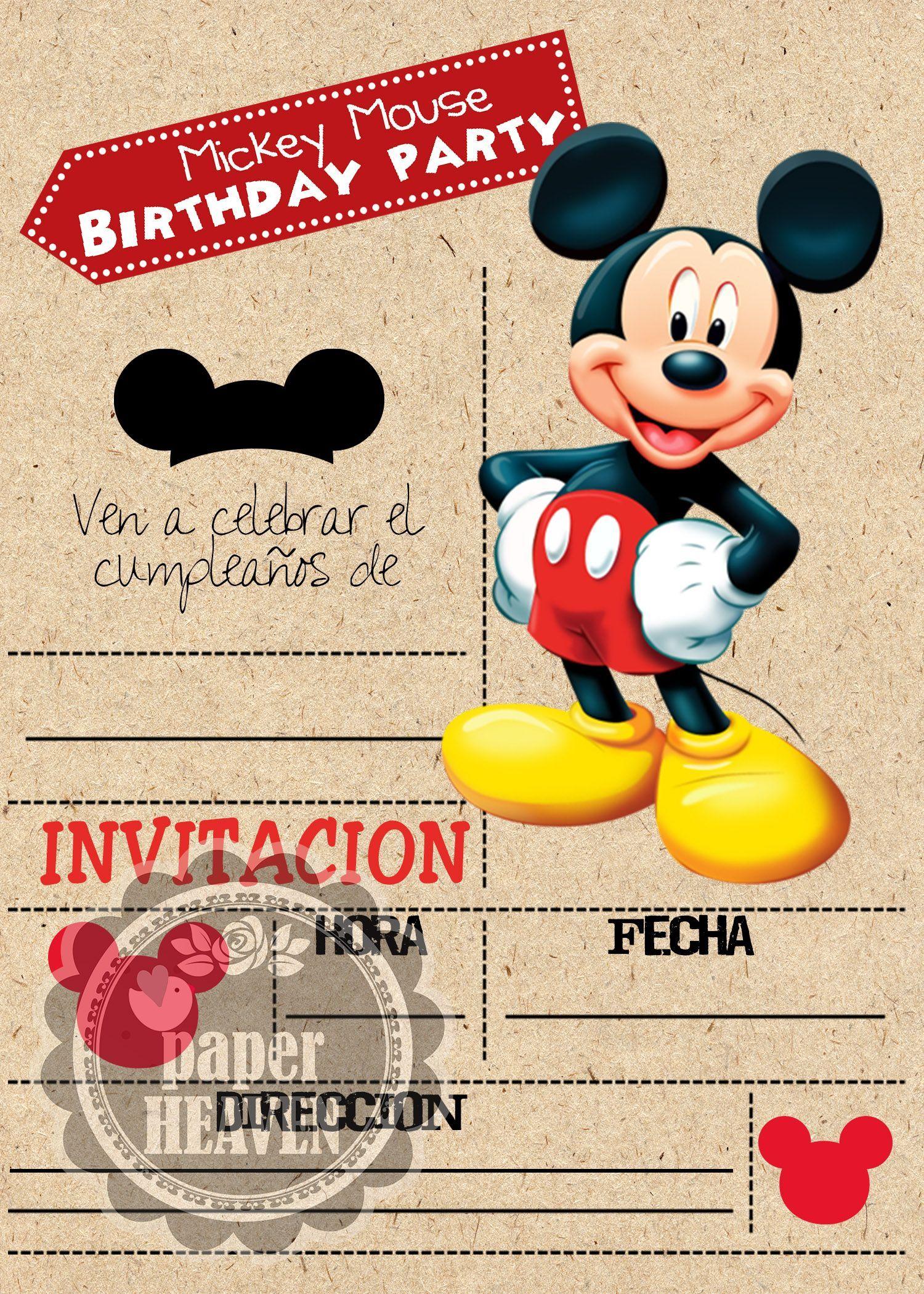 Resultado De Imagen Para Invitaciones De La Casa De Mickey