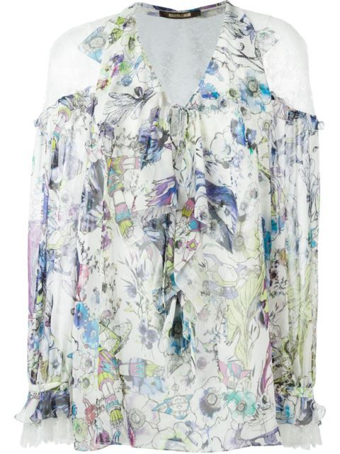 Roberto Cavalli Woman Ruched Printed Crepe De Chine Mini Dress Lilac Size 44 Roberto Cavalli 6FjM5jJ9w