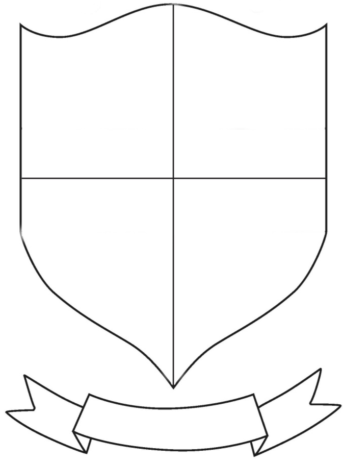 Pin By Calendar On Printables Coat Of Arms Family Crest Template Shield Template