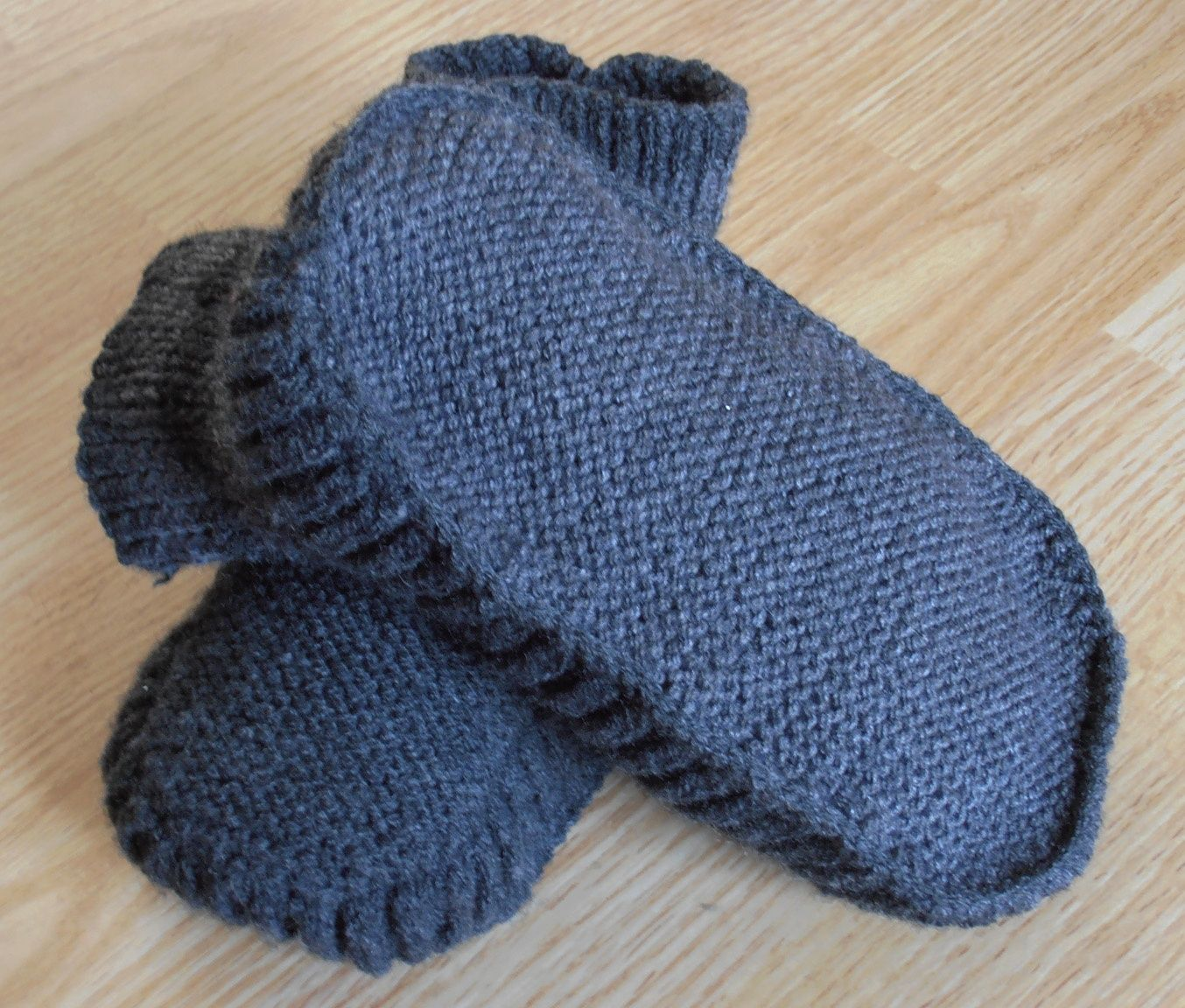 chaussons tricot facile gratuit adulte