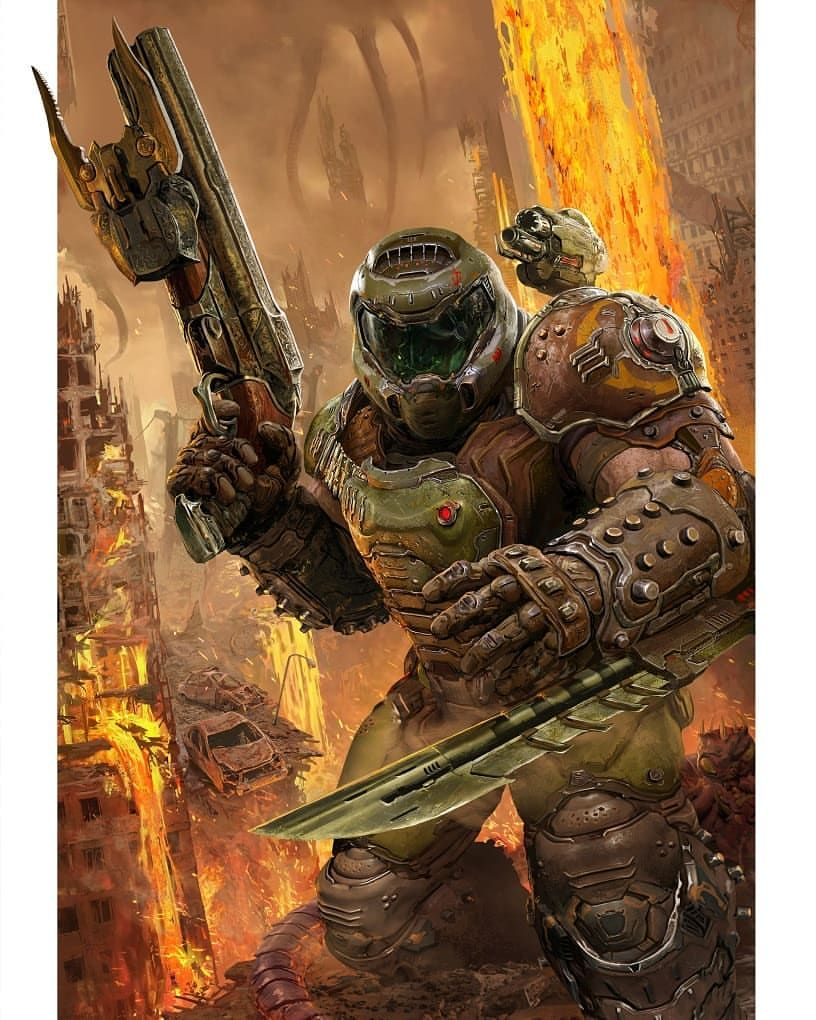 Doom Slayer Doom Eternal Art By Harry Osborn In 2020 Doom