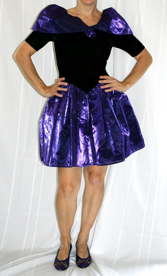 VINTAGE PROM Dress, Vintge 80s, 90s Prom Dress, Purple Satin and ...