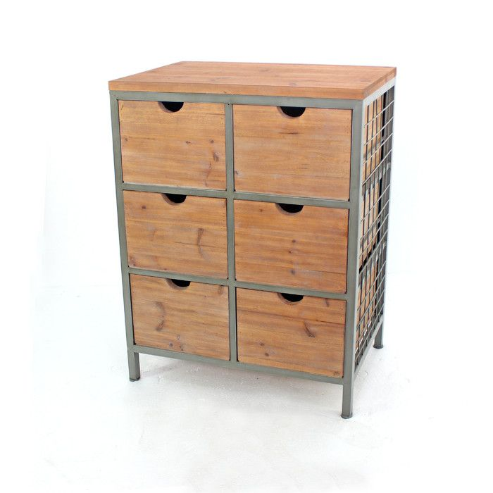 Look what I found on Wayfair! | Metal cabinet, Wooden ...