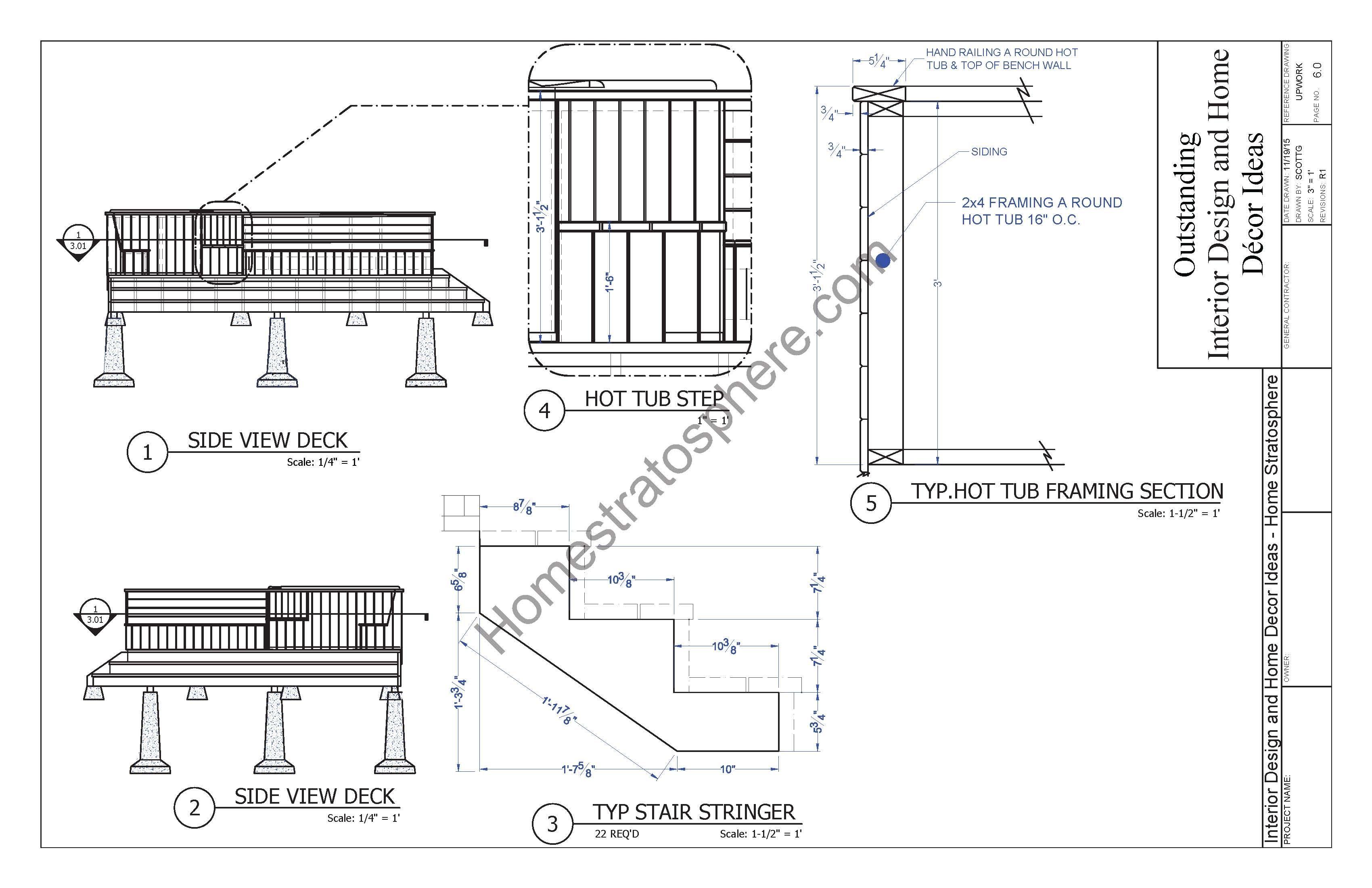 Hot Tub Deck Design Plan Free Pdf Download Hot Tub Deck Hot Tub Deck Design Deck Design Plans