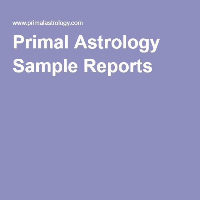 Primal Astrology Sample Reports Signs  Symbols Pinterest