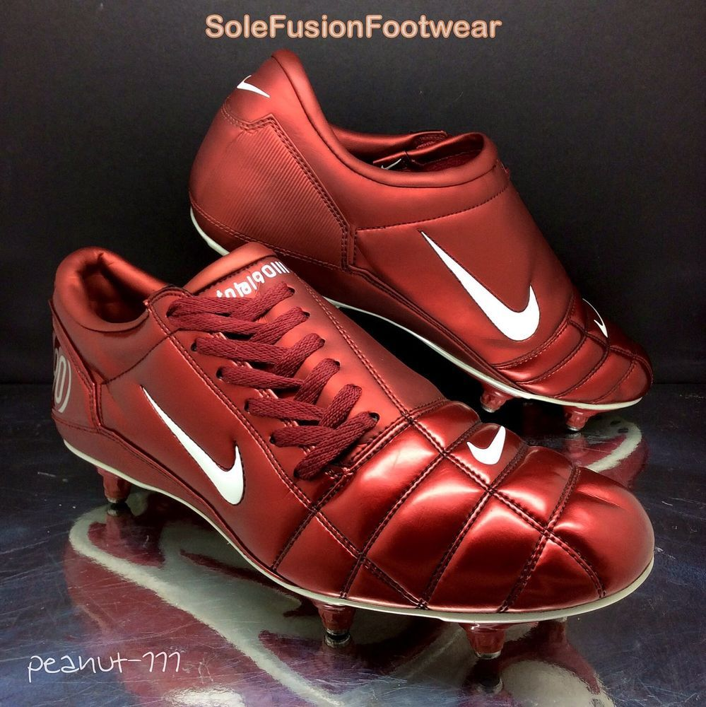 Nike Mens Total 90 III Football Boots Red sz 11 VTG SG Soccer Cleats US 12  EU 46  00ff55fd1f9b3