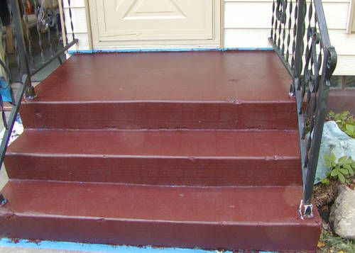 Concrete To Brick Front Steps Home Sweet Home Painted Concrete Steps Concrete Steps Painting Concrete