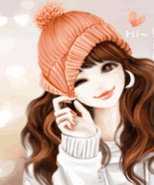 Animated Profile Pics : animated, profile, Latest, Animated, Profile, Pictures, Girls., Download, Beautiful, Girls, Fa…, Cartoon, Girl,, Cartoon,