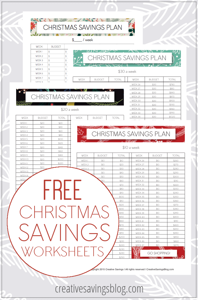 The Smart Way To Save For Christmas Free Printable Worksheets